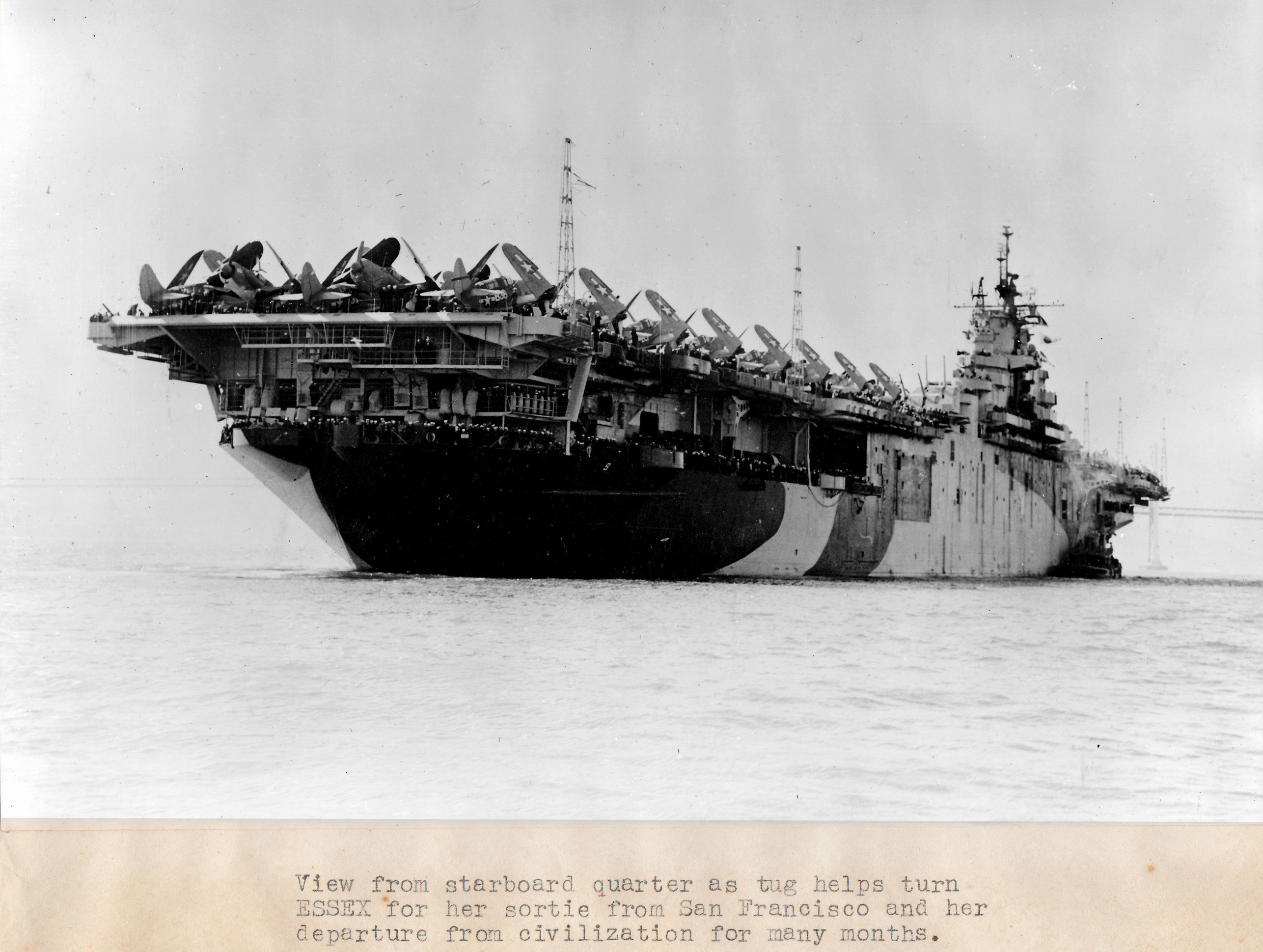 CV 9 USS Essex after her San Francisco refit April 15 1944 01