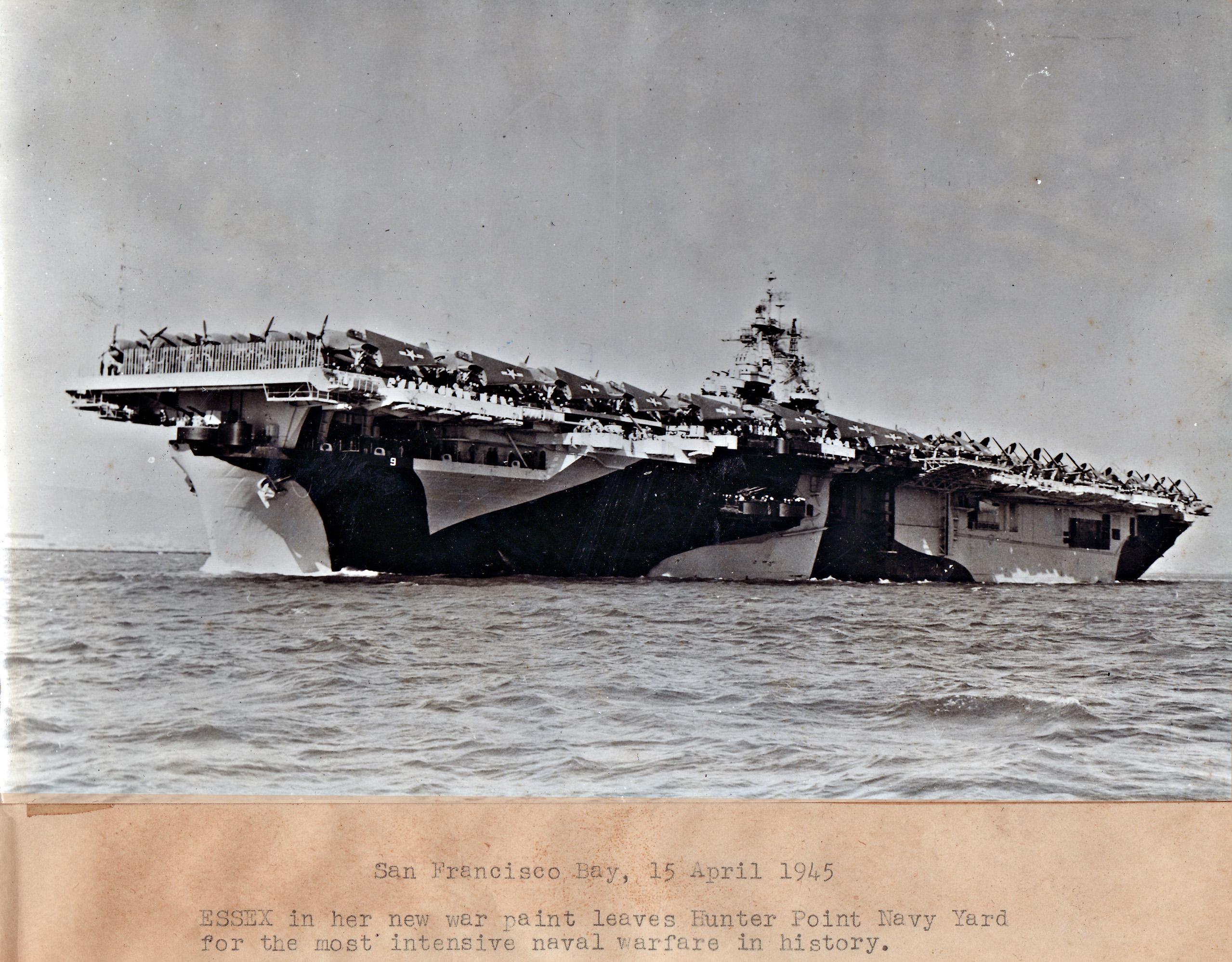 CV 9 USS Essex after her San Francisco refit April 15 1944 02