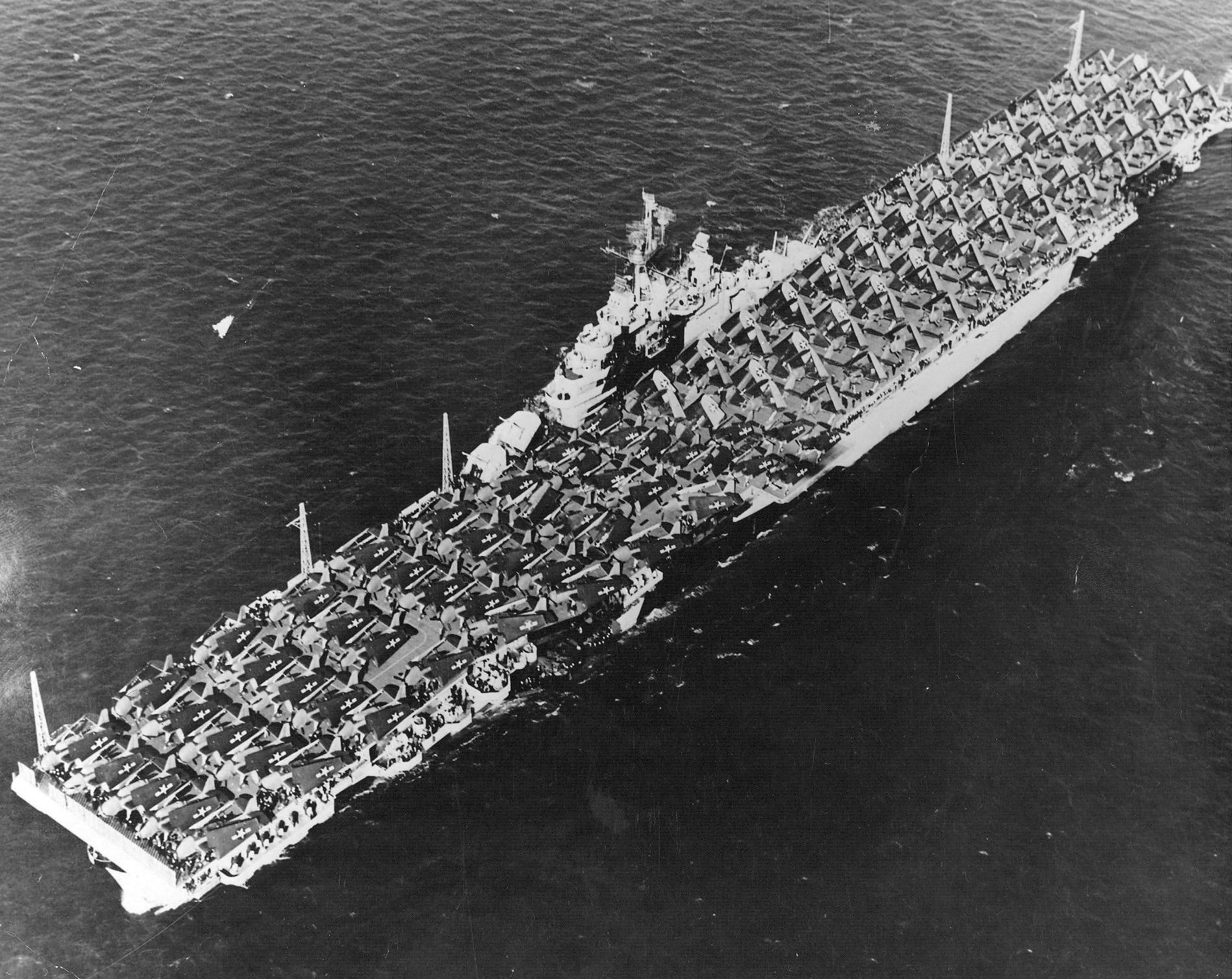 CV 9 USS Essex after her San Francisco refit April 15 1944 04