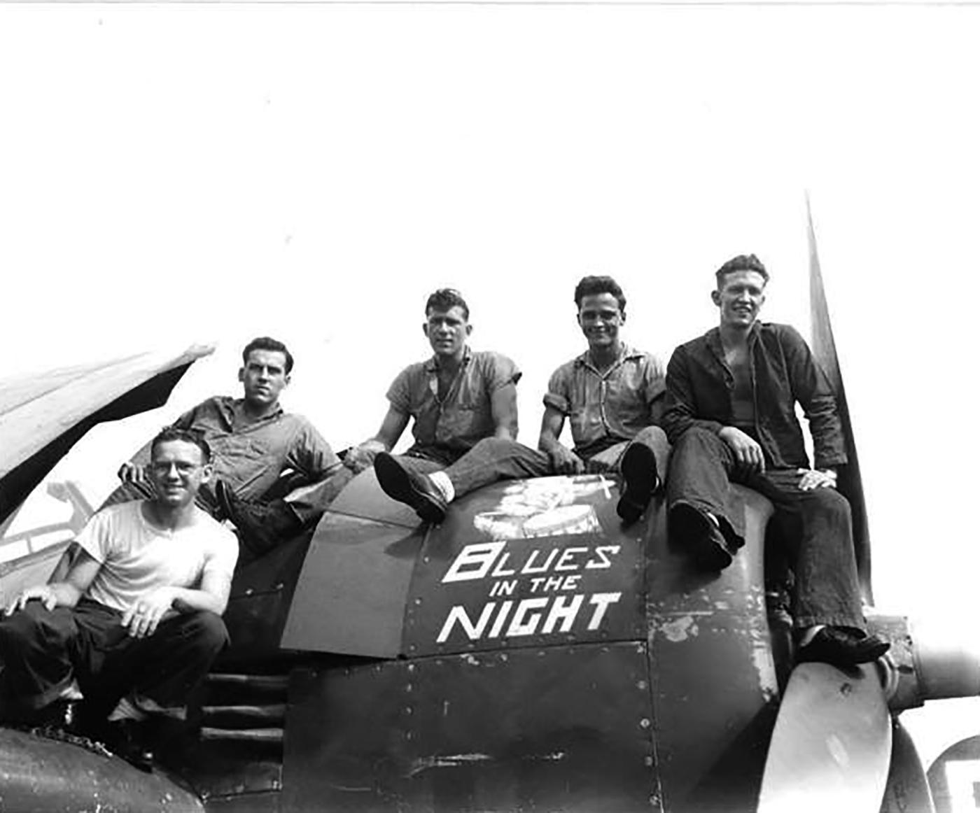 Grumman F6F 5 Hellcat VF 83 most likely named Blues in the Night aboard CV 9 USS Essex 1945 01