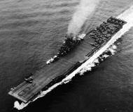 Asisbiz CV 9 USS Essex at sea during the Okinawa Campaign 20th May 1945 02