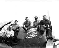 Asisbiz Grumman F6F 5 Hellcat VF 83 most likely named Blues in the Night aboard CV 9 USS Essex 1945 01