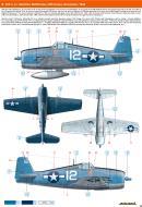Asisbiz Grumman F6F 3 Hellcat VF 9 White 12 Lt Hamilton McWhorter USS Essex November 1944 0A