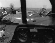 Asisbiz Grumman F6F 5 Hellcat VF 94 White 35 preparing to launch CV 10 USS Yorktown 1945 01