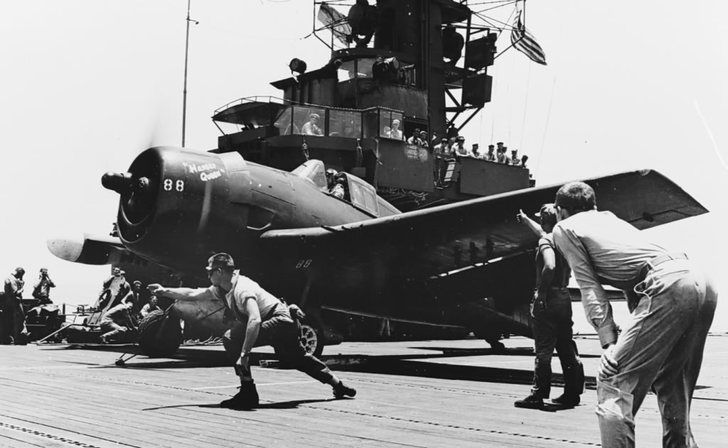 Grumman F6F 5N Hellcat VMFN 511 White 88 CVE 106 USS Block Island April 1945 01