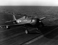 Asisbiz Grumman F6F 5N Hellcat VMFN 511 Red FN29 aboard CVE 106 USS Block Island II 4th Feb 1945 01