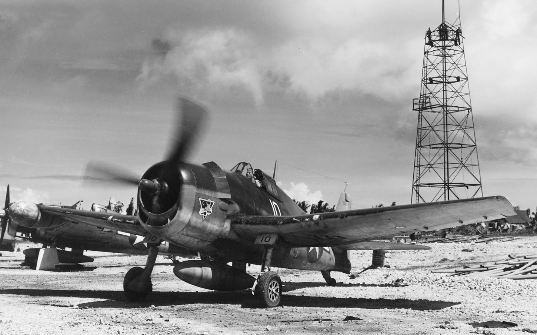 Grumman F6F 3N Hellcat VMF(N) 534 White 10 Guam Aug 1944 01