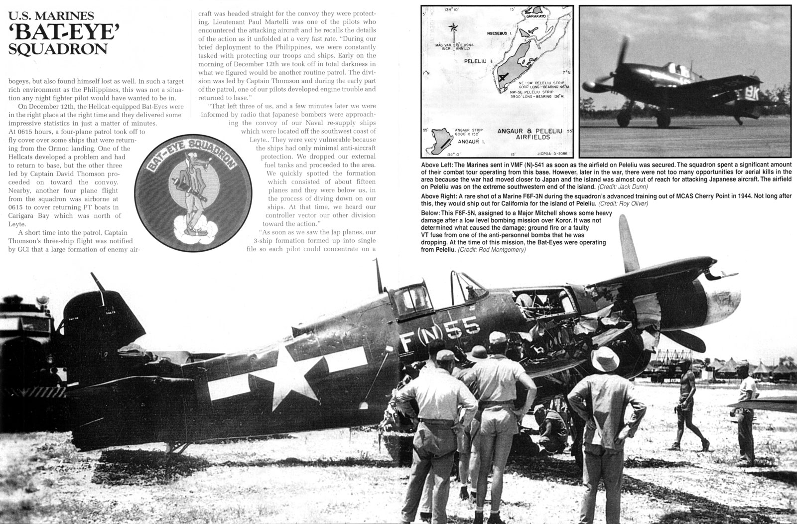 Grumman F6F 5N Hellcat VMFN 541 F(N)55 Falalop Island Ulithi Atoll May 1945 01