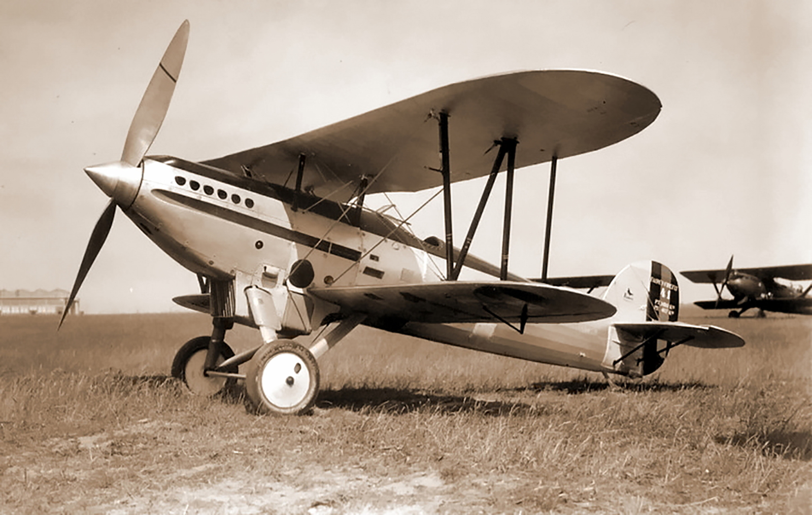 Belgian Fairfly in pre war silver black with a national black yellow red tricolor rudder 01