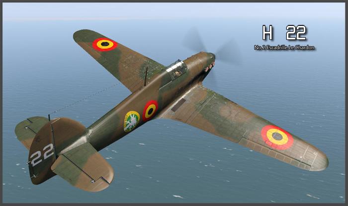 COD B1 Hurricane I Belgium 2Esc H22 Belgium 1940 V0A