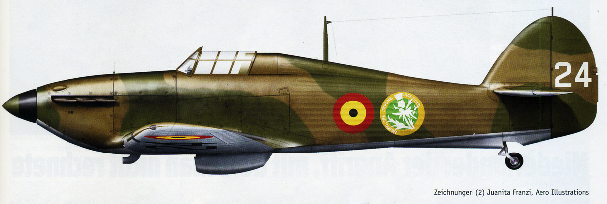 Hawker Hurricane I Belgium 2Esc H24 Belgium 1940 0A