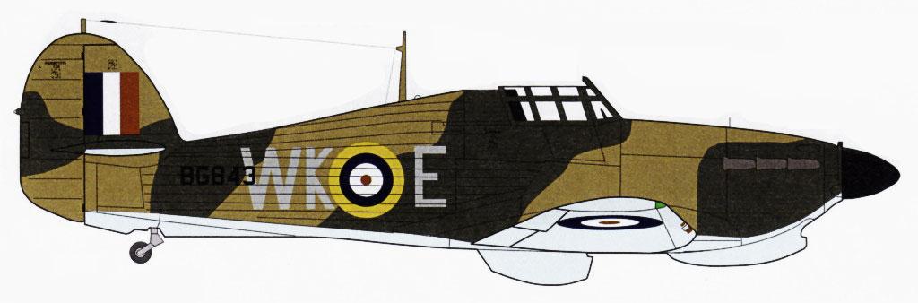 Hurricane IIb Trop RAF 135Sqn WKE BG843 Burma Feb 1942 0A