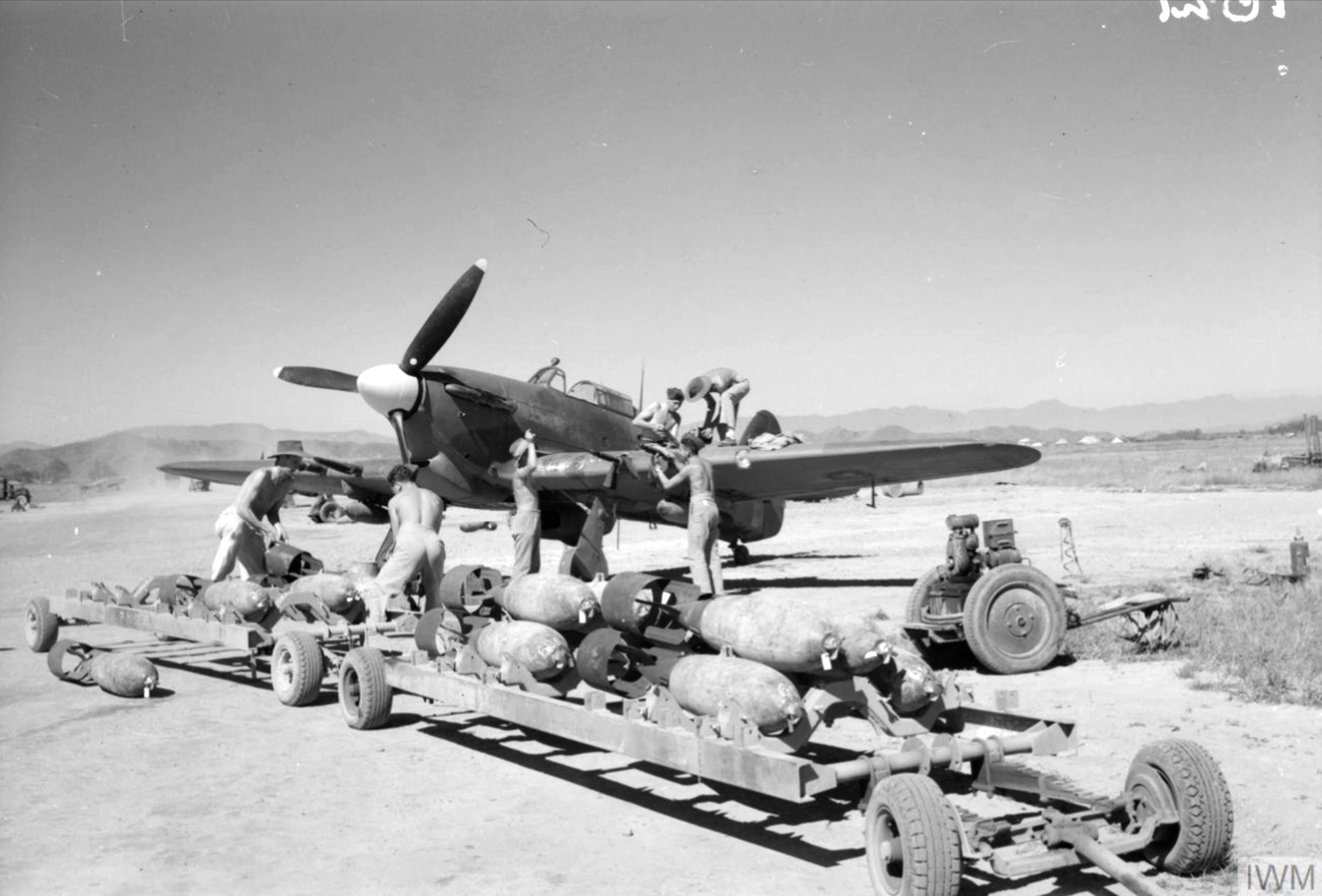 Hurricane IIc RAF 221Sqn at Palel Burma IWM CF195