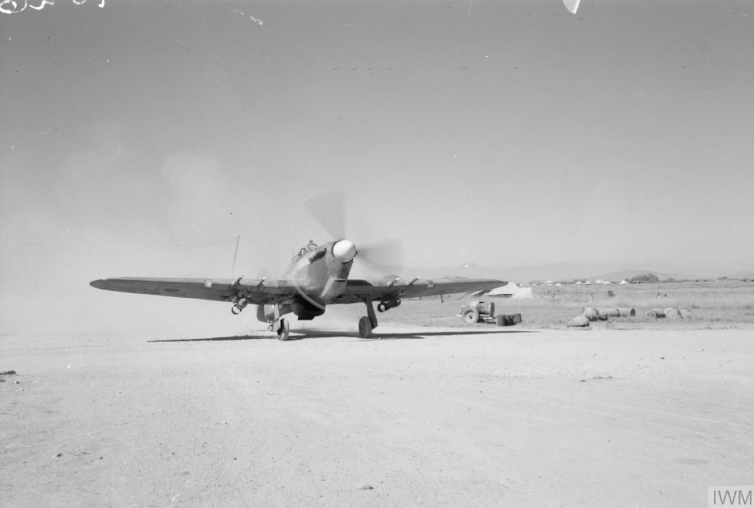 Hurricane IIc RAF 221Sqn at Palel Burma IWM CF198