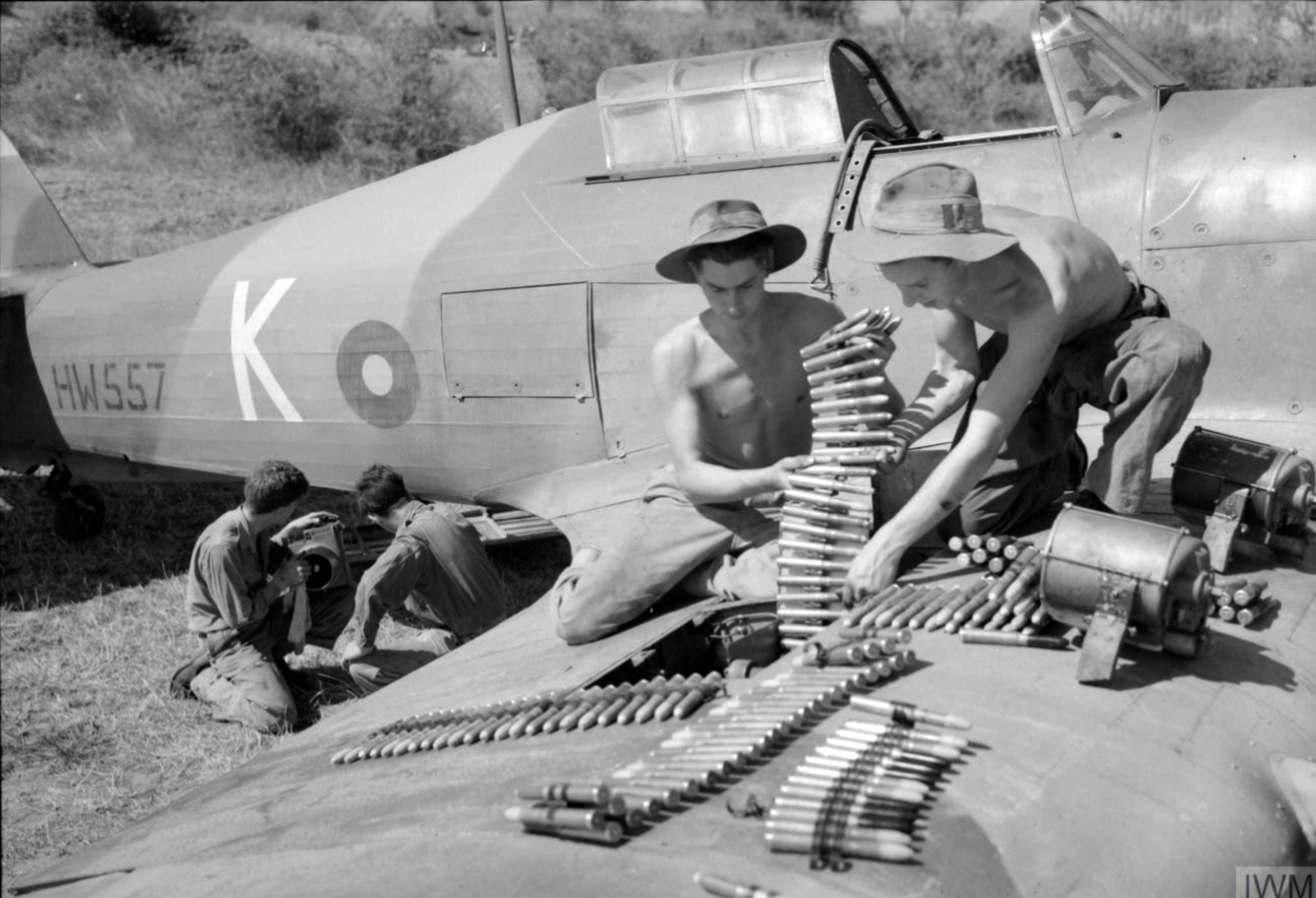 Hurricane IIc RAF 28Sqn K HW557 at Sadaung Burma IWM CF110