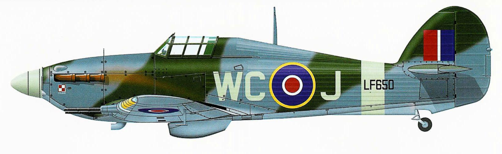 Hurricane IIc RAF 309Sqn WCJ LF650 based at RAF Drem 1944 0A