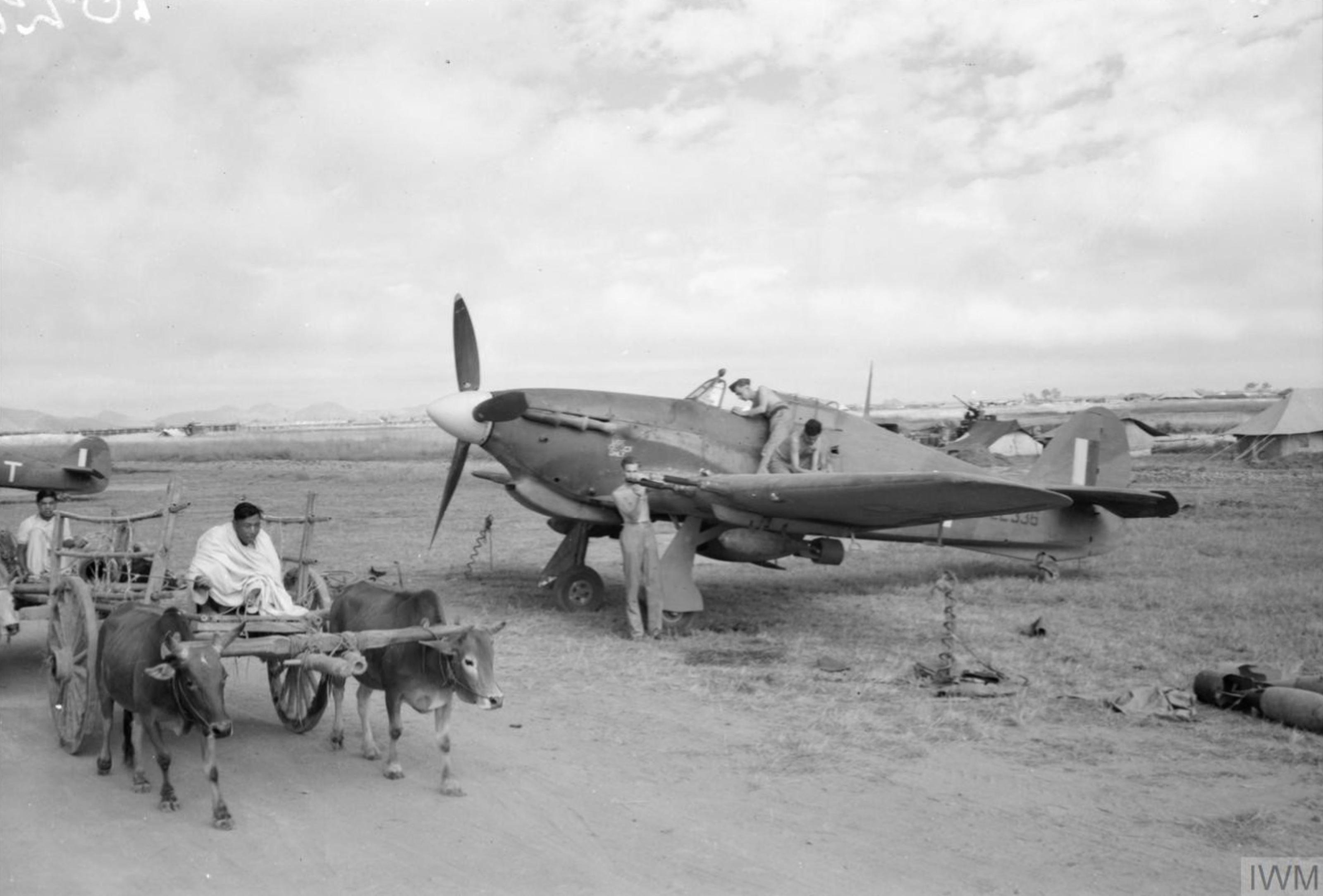 Hurricane IIc RAF 34Sqn LE336 at Palel Burma IWM CF196