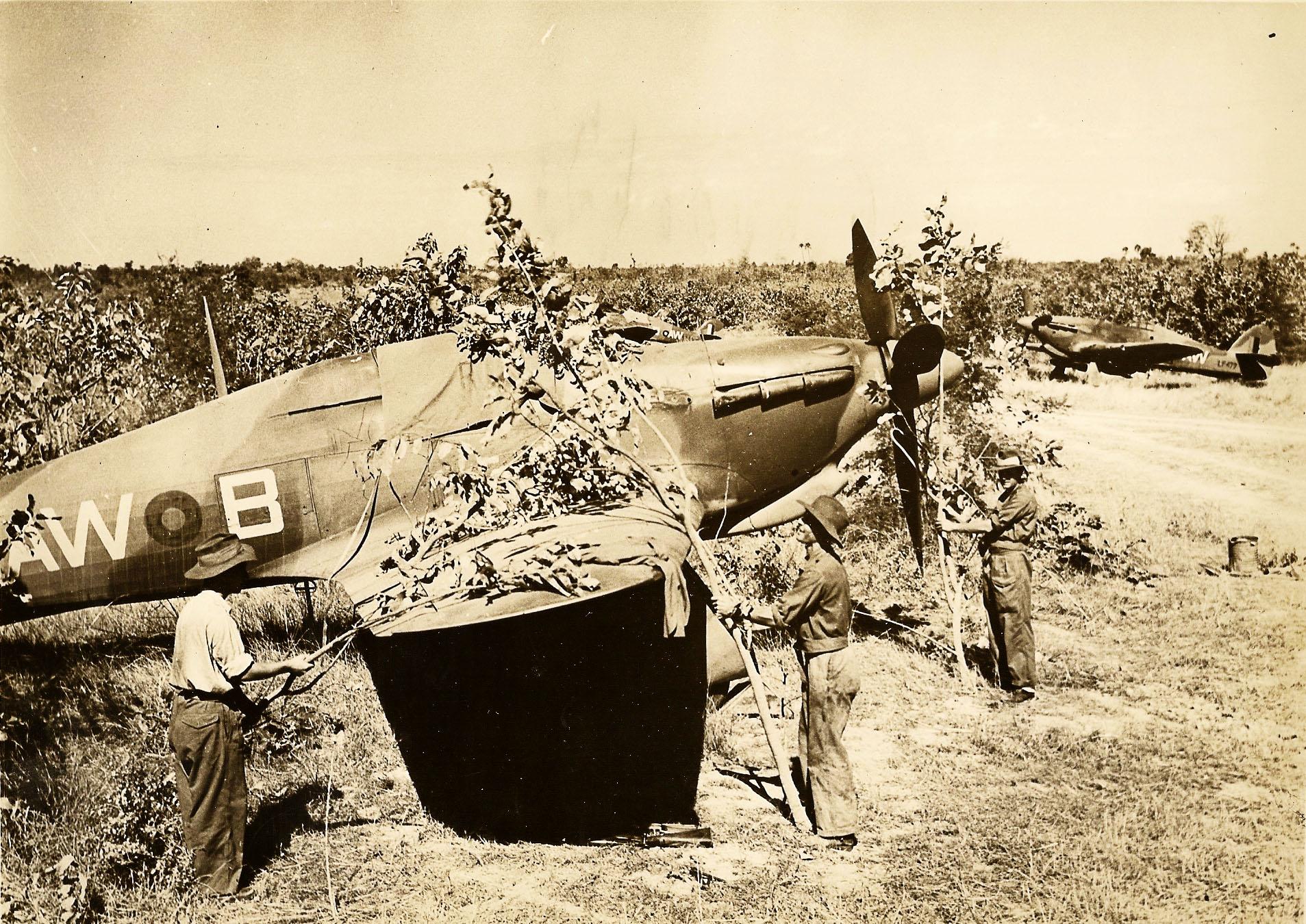 Hurricane IIc RAF 42Sqn AWB and LF479 background Burma campaign Oct 1944 45