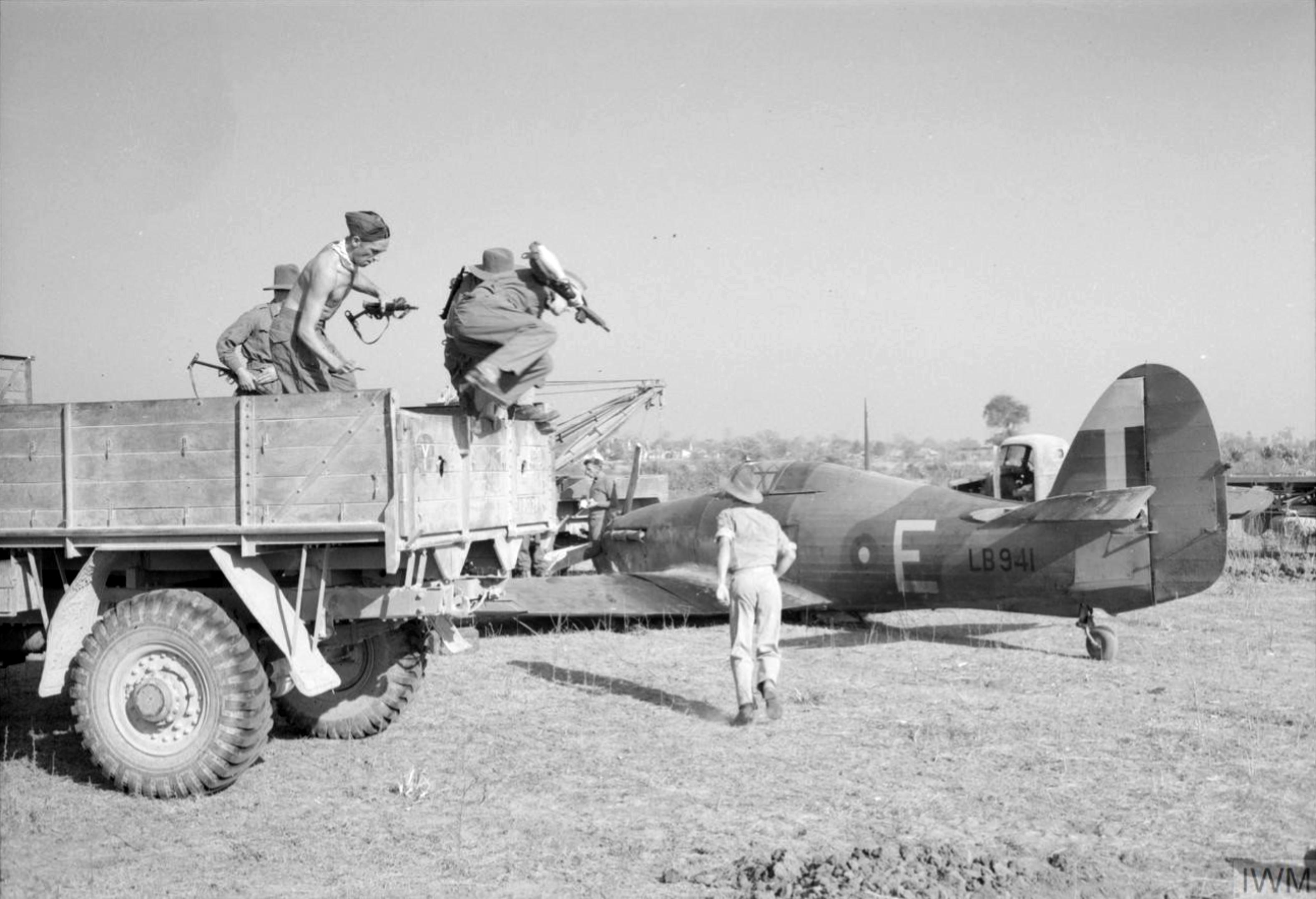 Hurricane IIc RAF 60Sqn E LB941 Sadaung Burma IWM CF395