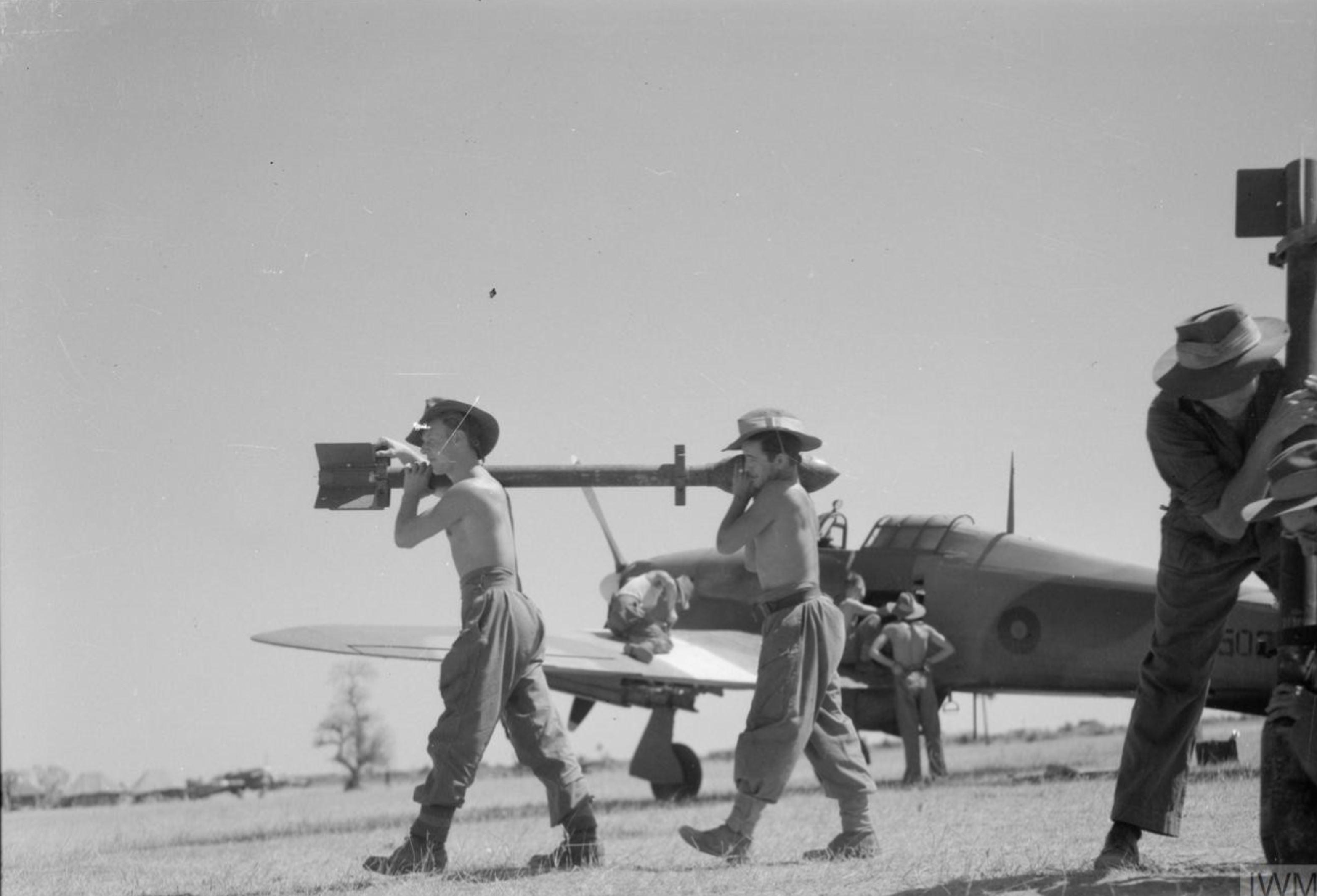Hurricane IIc RAF in central Burma IWM CF356