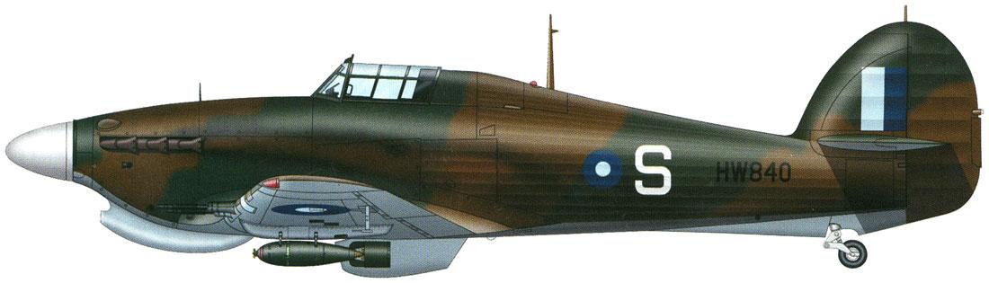 Hurricane IIc Trop RAF 34Sqn S Jimmy Whalen HW840 Palel India April 1944 0A