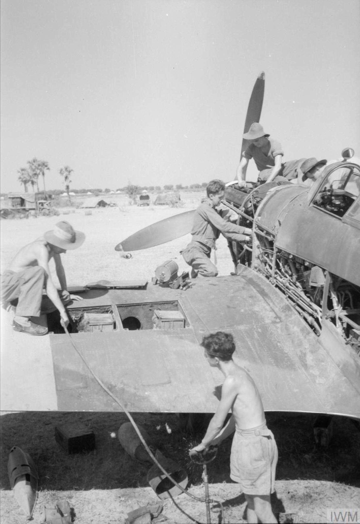 Hurricane IV RAF 170 Wing dispersal area Burma IWM CF352