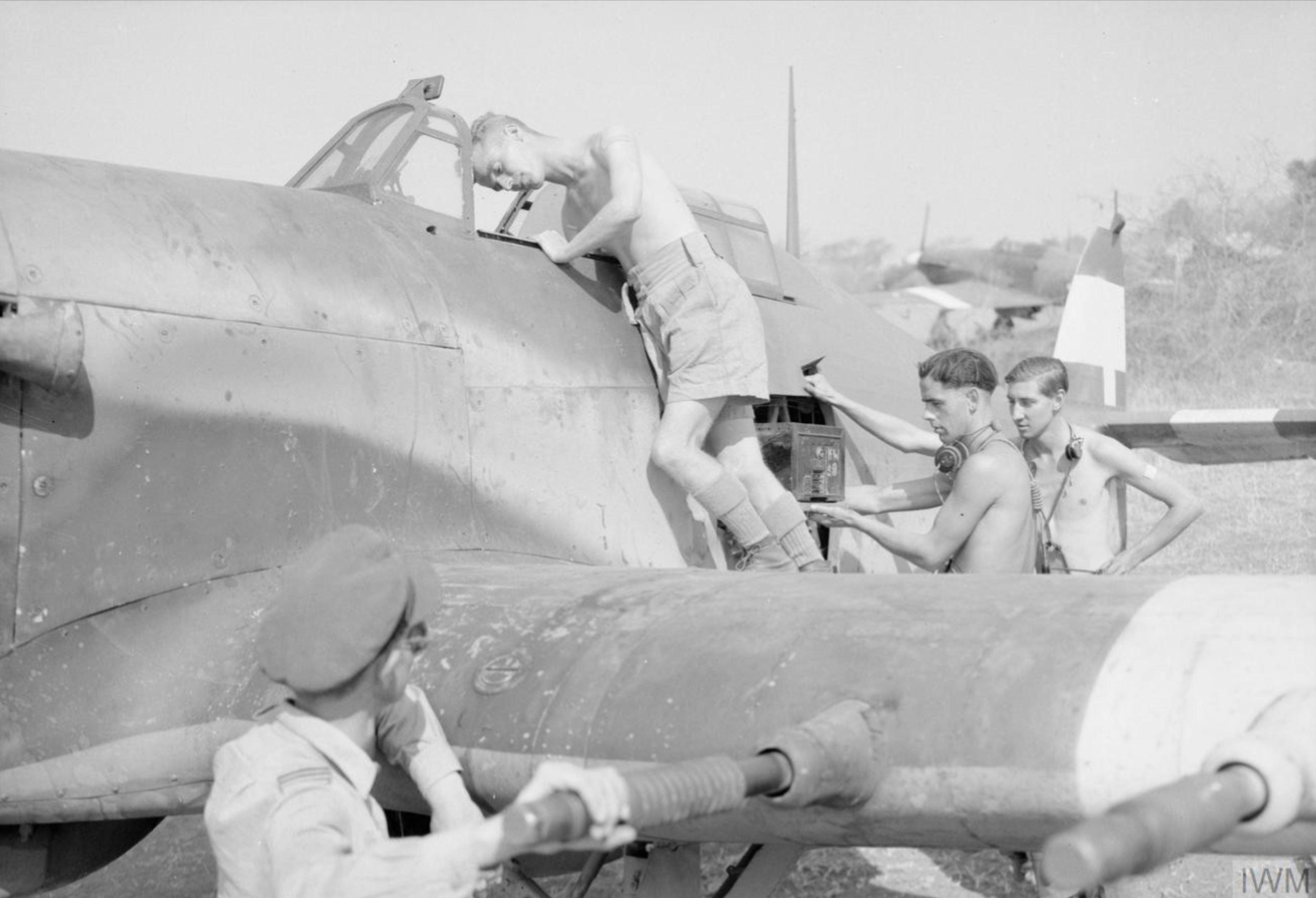 Hurricane IV RAF 170 Wing dispersal area Burma IWM CF478