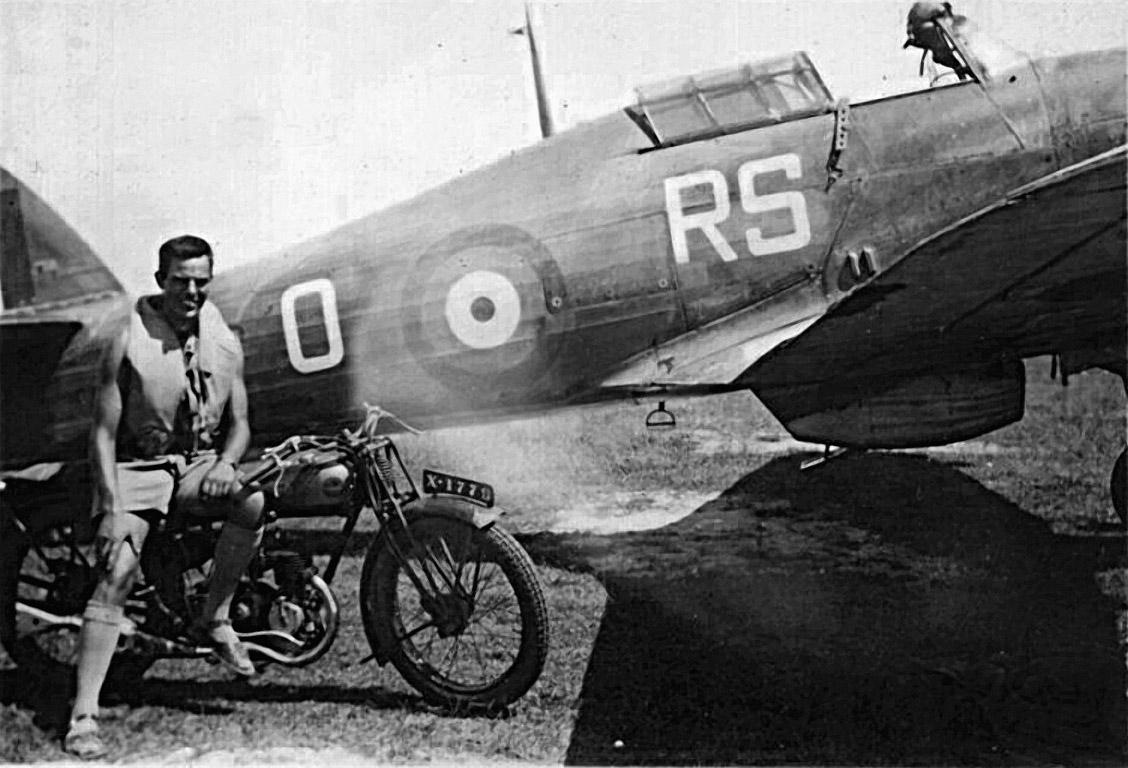Hurricane RAF 33Sqn RSO Don Geffene Colombo Ceylon 1943