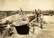Asisbiz Hurricane IIc RAF 42Sqn AWB and LF479 background Burma campaign Oct 1944 45