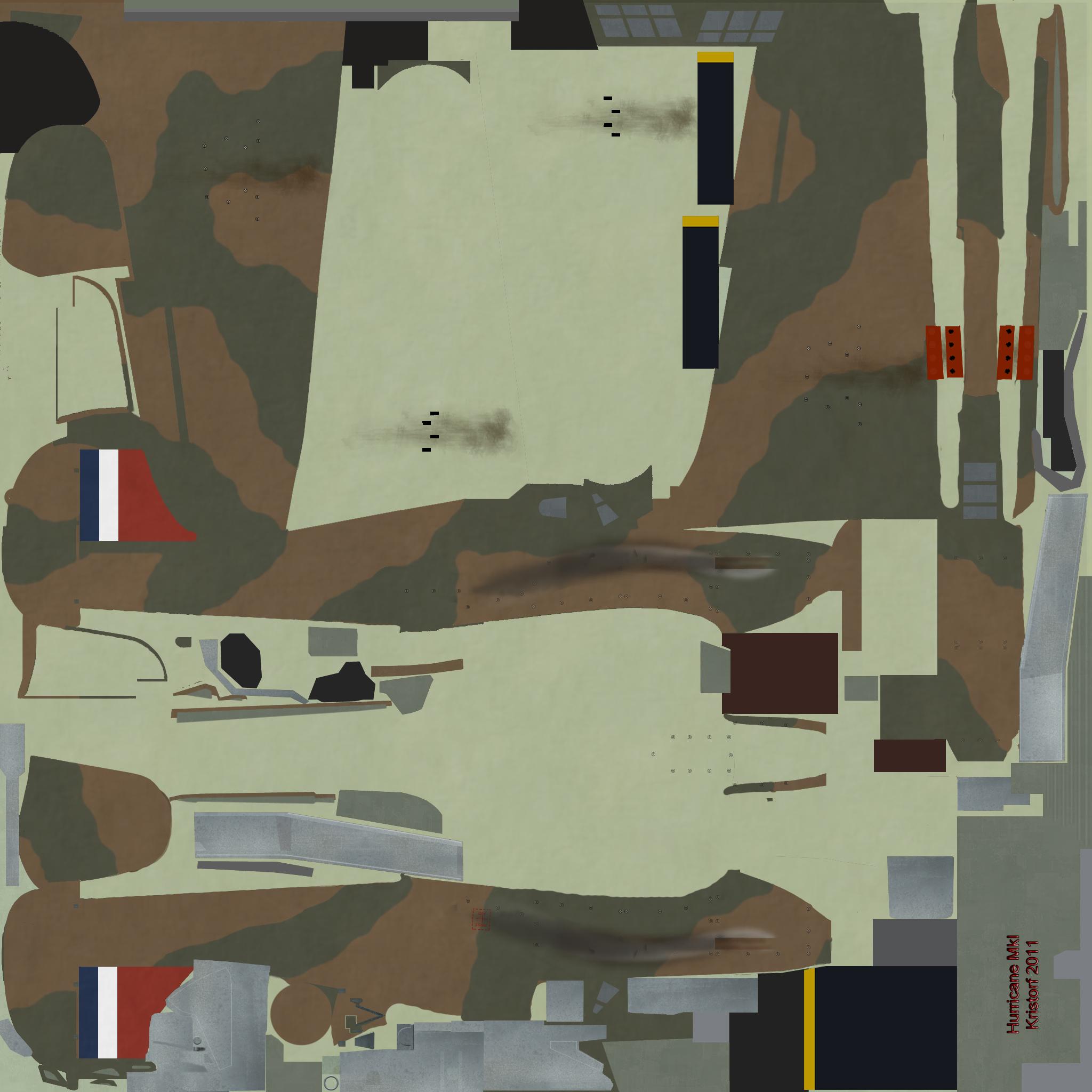 COD KF Hurricane I RAF generic tail flash England 1939 NM