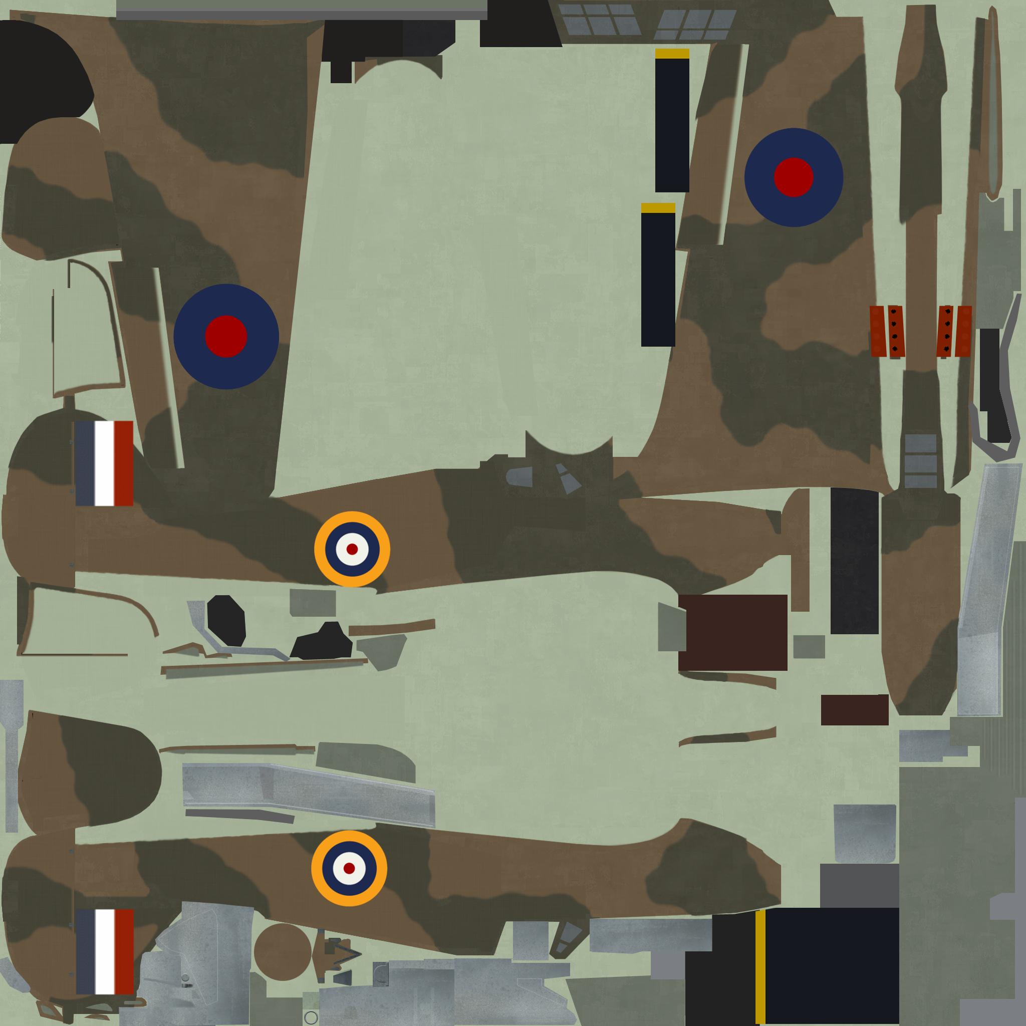 COD KF Hurricane I RAF generic tail flash England 1940 NC