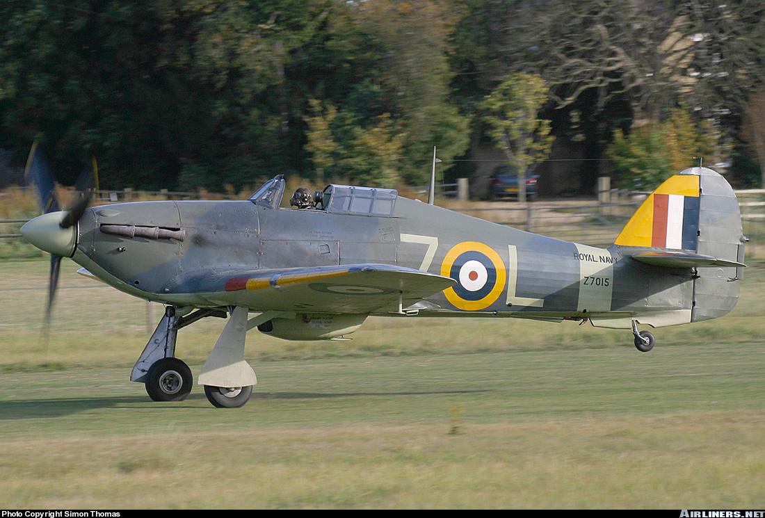 Airworthy Warbird Hawker Hurricane IIc RN 800NAS 7L Z7015 registered G BKTH 09