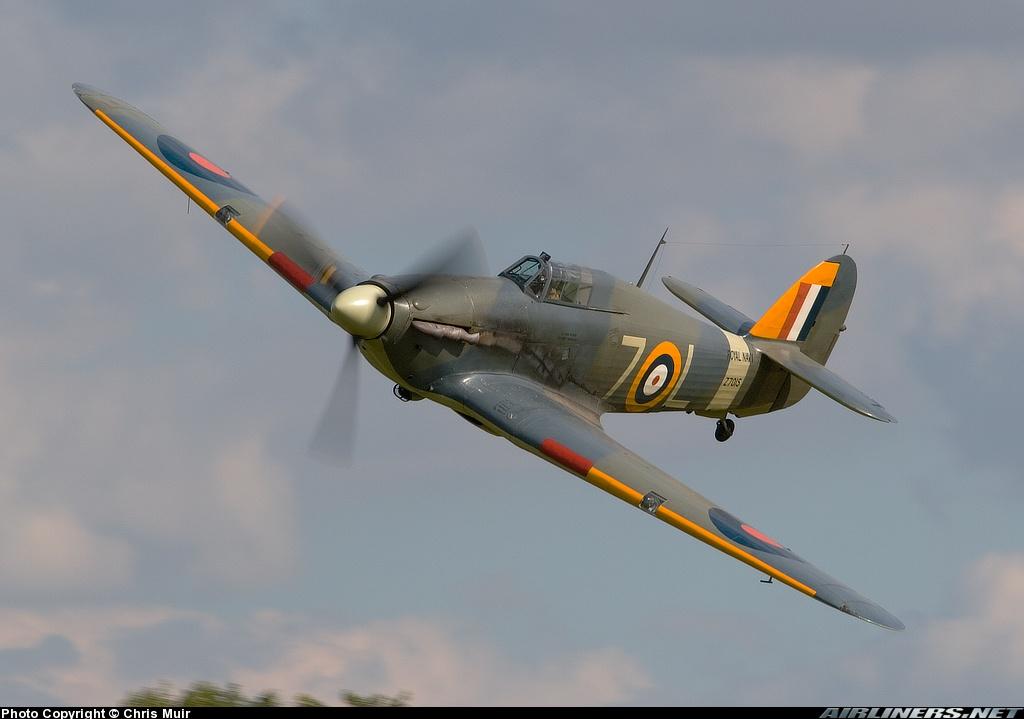 Airworthy Warbird Hawker Hurricane IIc RN 800NAS 7L Z7015 registered G BKTH 21