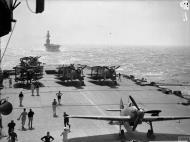 Asisbiz British convoy on their way to Malta with HMS Indomitable followed by Eagle 10 12th Aug 1942 IWM A11158