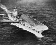 Asisbiz HMS Indomitable at sea with FAA 800NAS Hurricannes 16th July 1942 IWM A105000