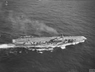 Asisbiz HMS Indomitable at sea with FAA 800NAS Hurricannes 16th July 1942 IWM A10503