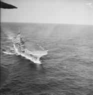 Asisbiz HMS Indomitable at sea with FAA 800NAS Hurricannes 16th July 1942 IWM A10504