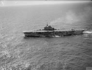 Asisbiz HMS Indomitable at sea with FAA 800NAS Hurricannes 16th July 1942 IWM A10506