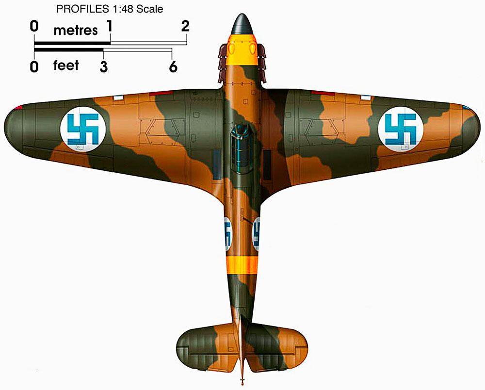 Artwork Hawker Hurricane I FAF LeLv32 2 HC452 Suulajarvi Finland 1942 0B