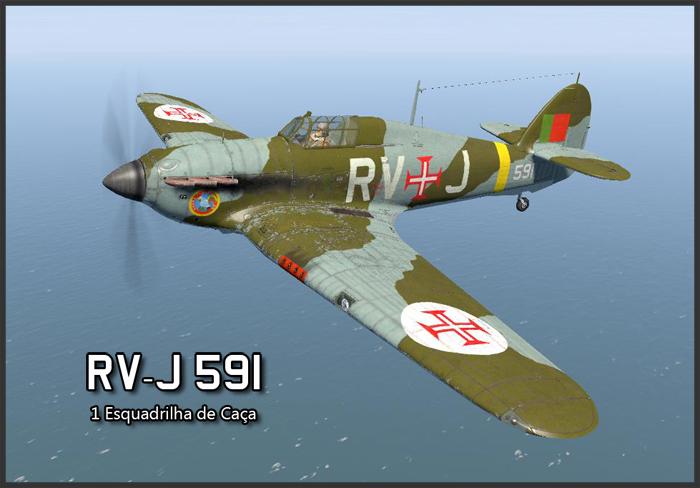 COD B1 Hurricane I Portuguese Airforce 1 Esquadrilha De Caca RV J 591 Portugal V0A