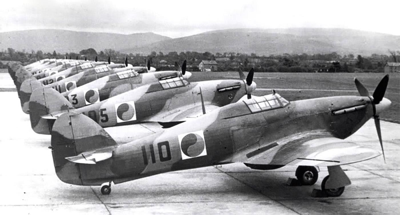 Hawker Hurricane I Irish AF line up 01