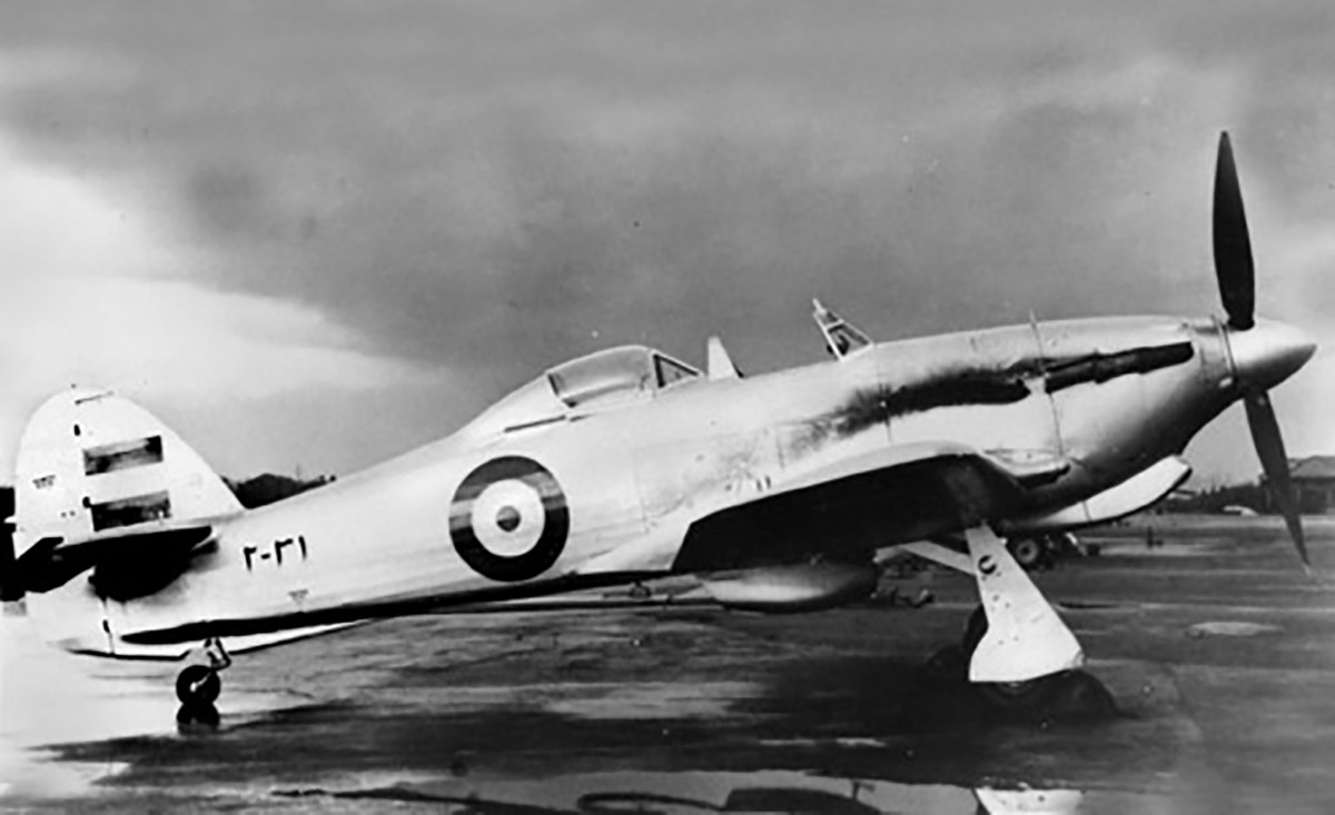 Hawker Hurricane IIc Imperial Iranian Air Force IIAF Two seat trainer version 02
