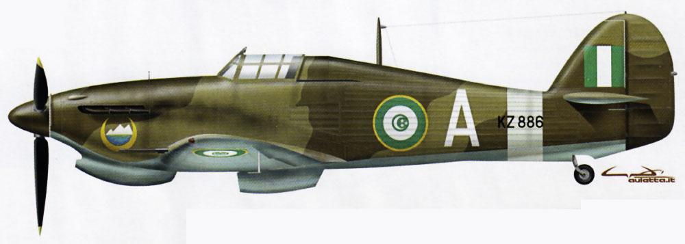 Hurricane IIc Trop Egyptian Air Force 2 Sqn White A KZ886 Mersa Matruh Egypt 1944 0A