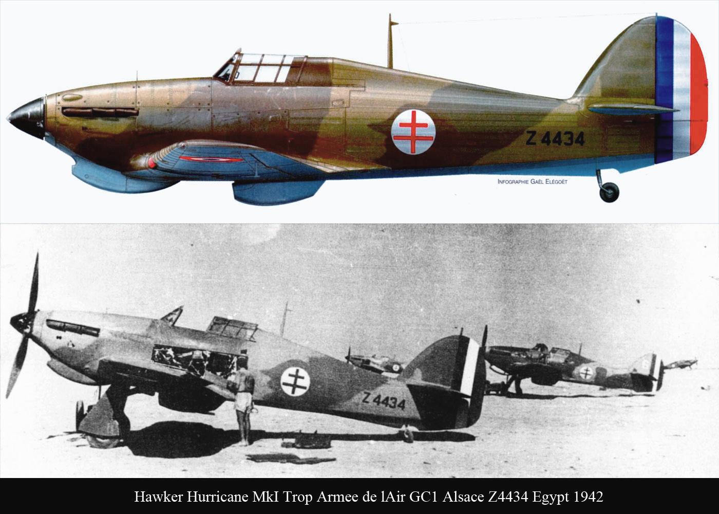 Hawker Hurricane I Trop Armee de lAir GC1 Z4434 Egypt 1942 01