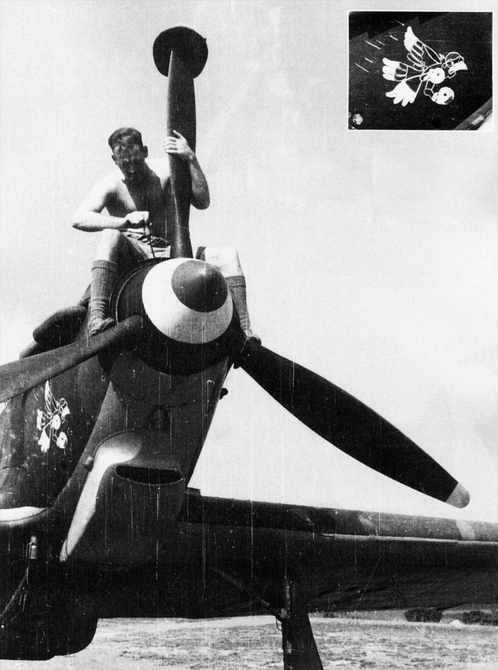 Hawker Hurricane II Trop being readied for comabt units Egypt 1941 02