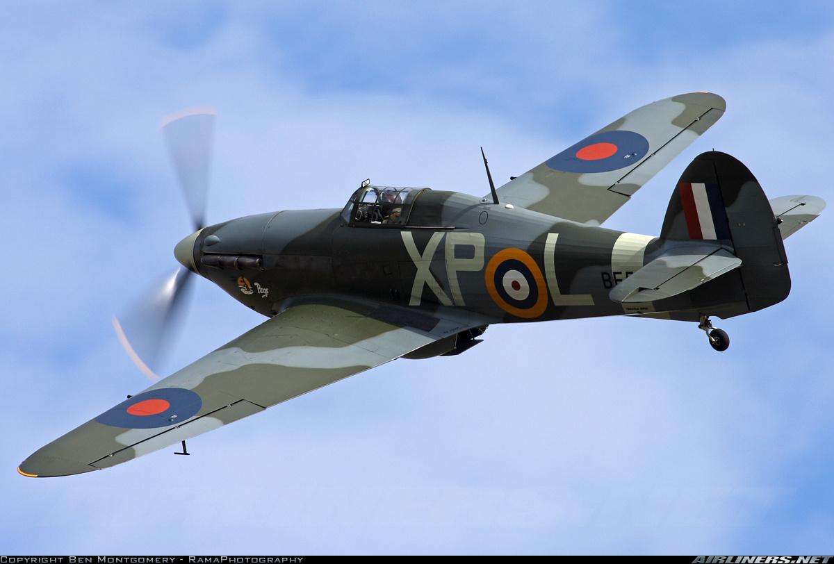 Airworthy Hawker Hurricane warbird as RAF 174Sqn XPL BE505 02