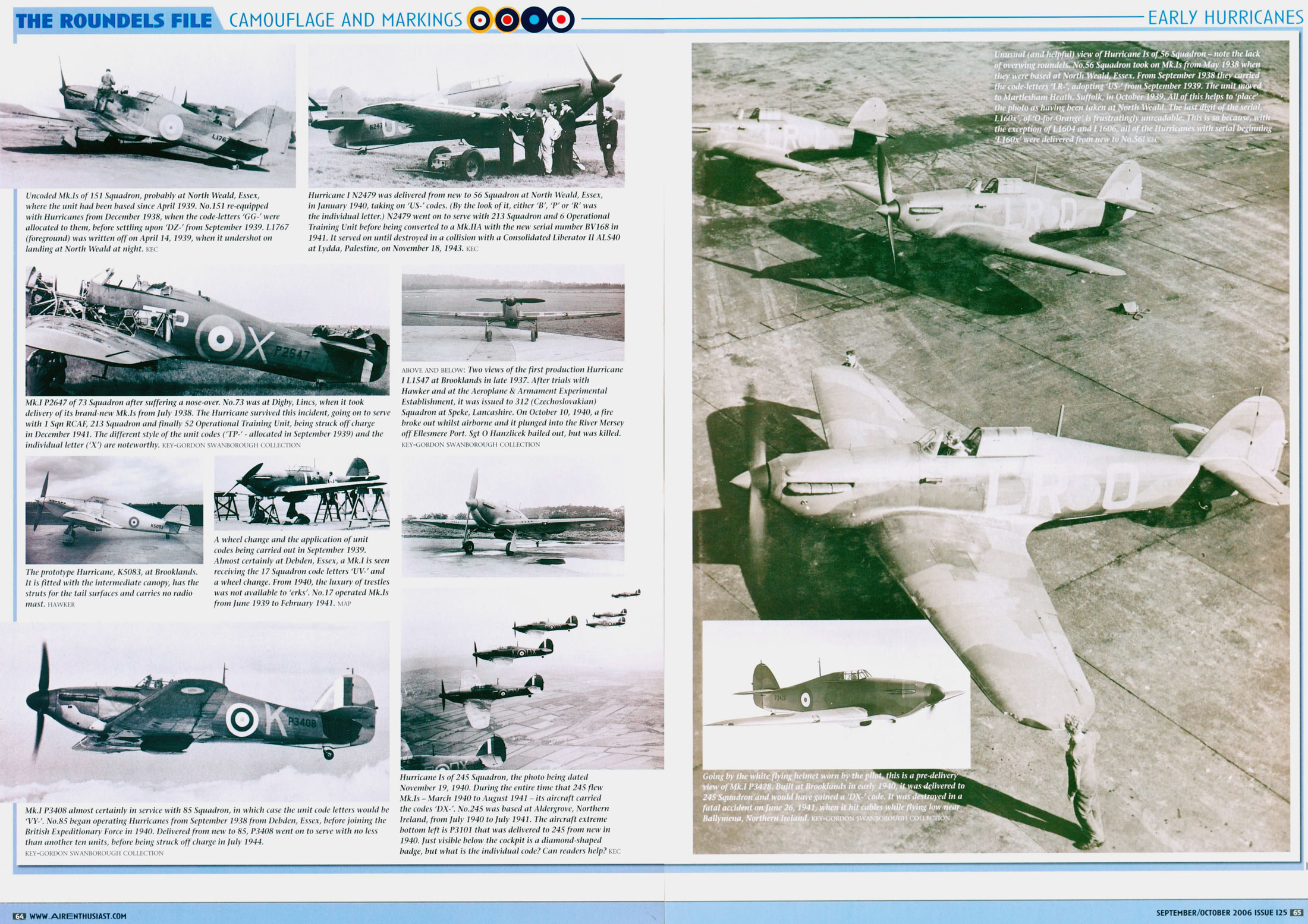 Artwork Hawker Hurricane Is early war camouflage schemes by AIR Enthusiast Sep 2006 0B