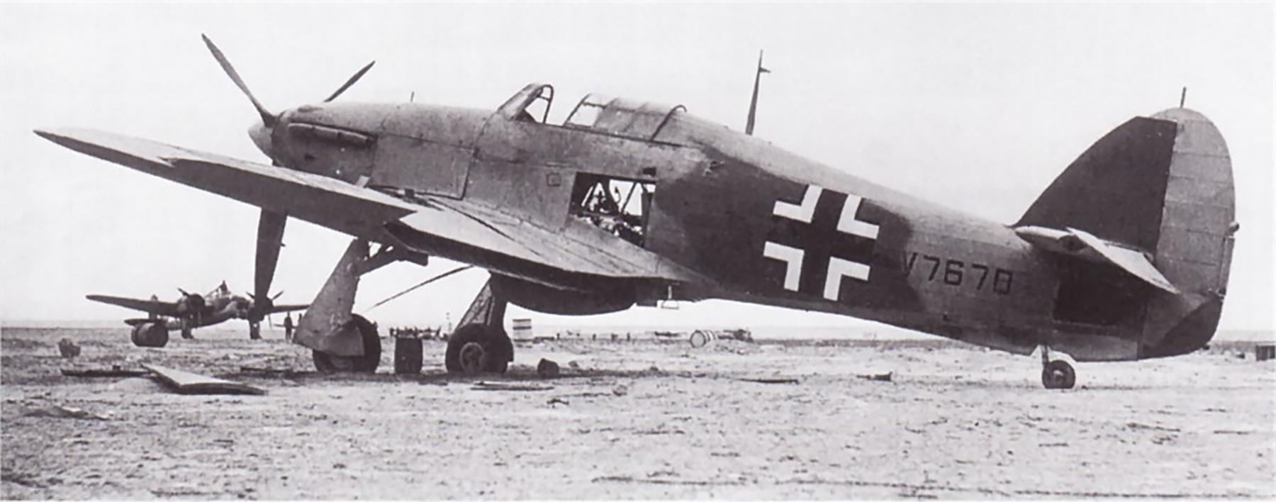 Captured Luftwaffe Hurricane Ia RAF V7670 captured by German Forces Gambut 1941 01