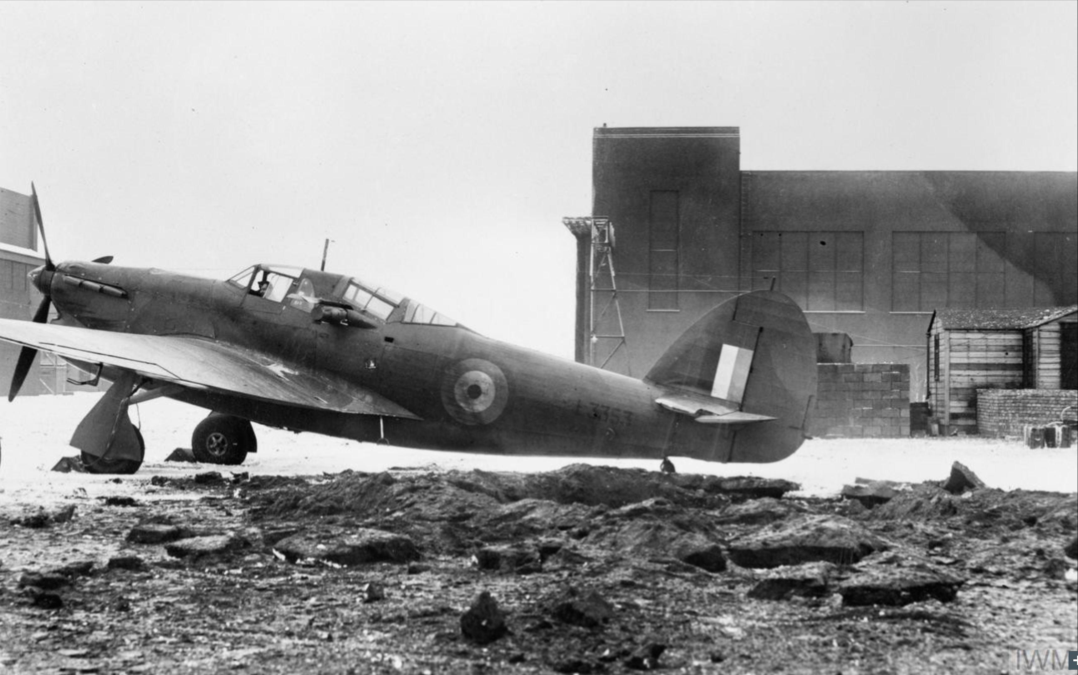 Hawker Henley RAF 1AACU 1 Anti Aircraft Co operation Unit L3353 at Bircham Newton Cambridgeshire IWM CE43