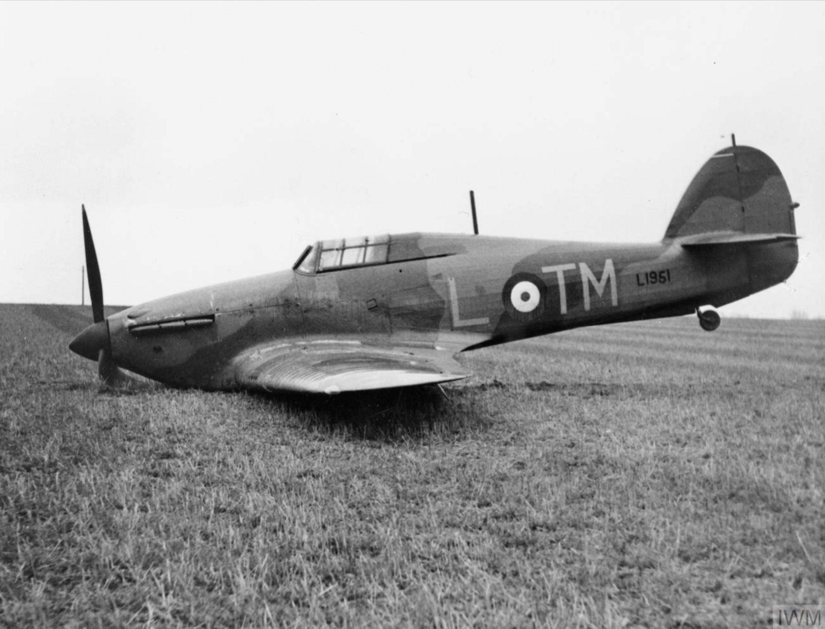 Hawker Hurricane I RAF 504Sqn TML L1951 near Great Yarmouth 2 Apr 1940 IWM HU69945